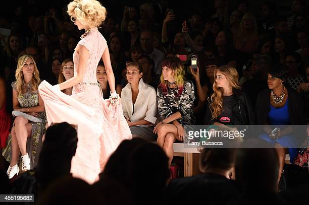 Tinsley Mortimer Jessica Hart Chloe Norgaard Willow Shields and Cheryl Wills attend the Betsey Johnson fashion show during MercedesBenz Fashion Week...