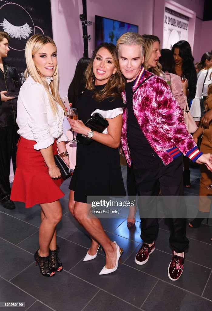 Tinsley Mortimer, Kelly Dodd and Co-Founder & Chief Creative Officer, Too Faced Cosmetics Jerrod Blandino attend Too Faced's Better Than Sex Pop-up Launch on October 18, 2017 in New York City.