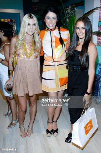 Tinsley Mortimer Lauren Rae Levy and Kelli Tomashoff attend Tinsley Mortimer Hosts the Roberta Freymann East Hampton Boutique Grand Opening at...
