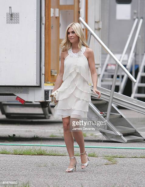 Tinsley Mortimer sighted on location of 'Gossip Girls' on June 23 2008 in Long Island New York