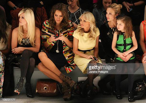 Tinsley Mortimer TV Personality Louise Roe Actress Kristen Chenoweth and Elizabeth Hasselbeck with daughter Grace Elizabeth Hasselbeck attend the...