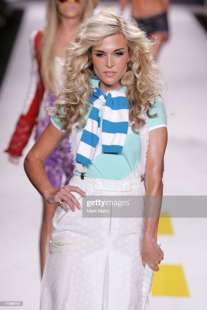 Tinsley Mortimer walks the runway at the Heatherette Spring 2007 fashion show during Olympus Fashion Week at the Tent in Bryant Park September 12, 2006 in New York City.