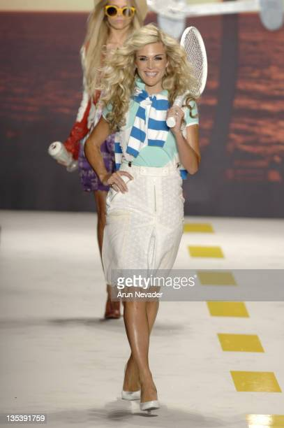 Tinsley Mortimer wearing Heatherette Spring 2007 during Olympus Fashion Week Spring 2007 Heatherette Runway at The Tent Bryant Park in New York City...