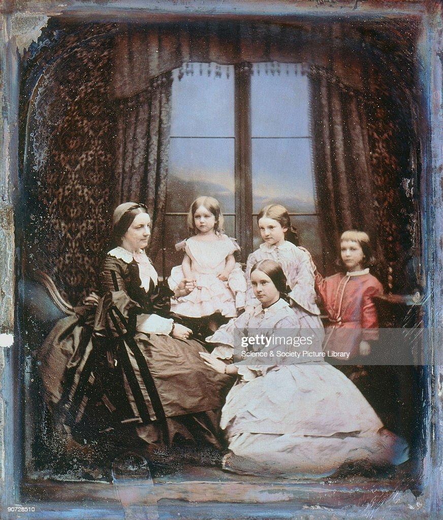 A family group, c 1845. : News Photo