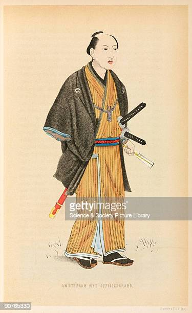 Tinted lithograph from 'Vijf jaren in Japan ' by J L C Pompe van Meerdervoort a Dutch medical doctor who spent five years in Japan His account of his...