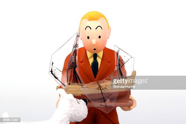 tintin and shocked - tintin stock photos and pictures