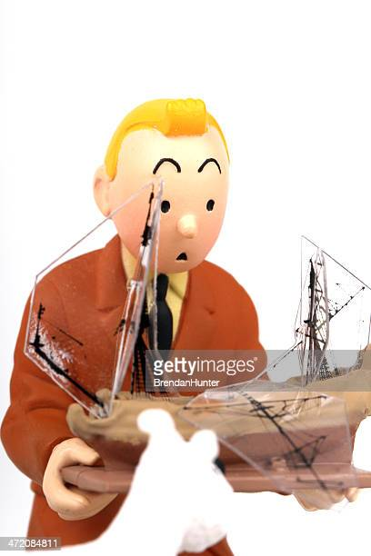 tintin is shocked - tintin stock photos and pictures