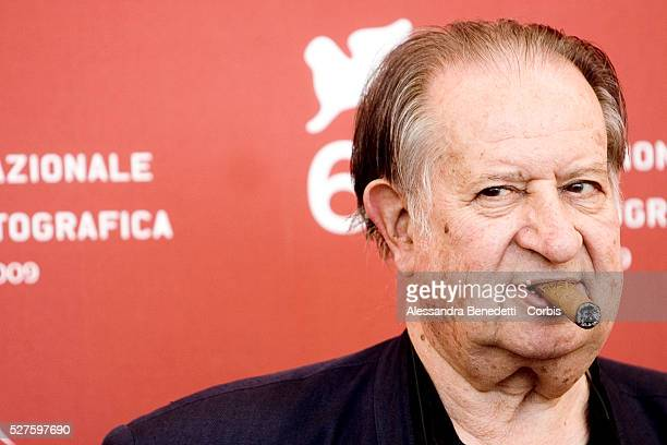 Tinto Brass attends the photocall of the short film Hotel Courbet during the 66th Venice Film Festival
