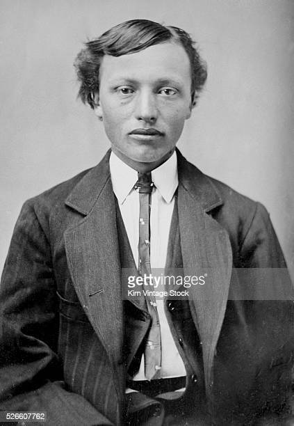 Tintype portrait of a young Native American man ca 1890