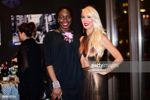 Tinu and Tracy Stern attend Tracy Stern hosts holiday party at private townhouse in Hell's Kitchen at Private Residence on December 14 2017 in New...