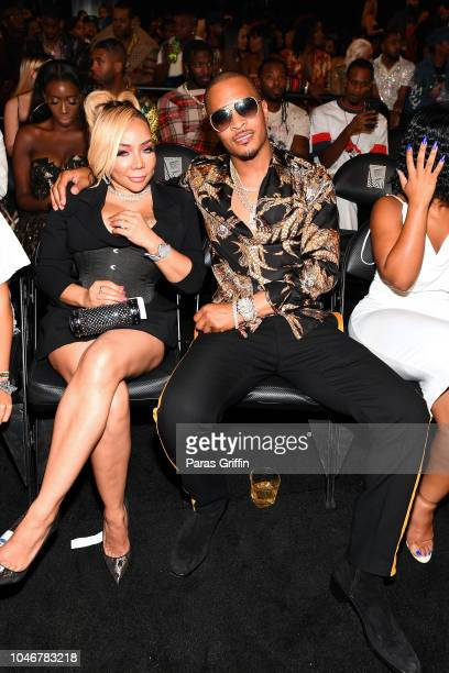 Tiny and TI during the BET Hip Hop Awards 2018 at Fillmore Miami Beach on October 6 2018 in Miami Beach Florida