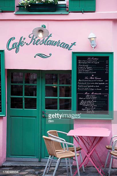 Tiny Cafe Restaurant on Montmartre, Paris