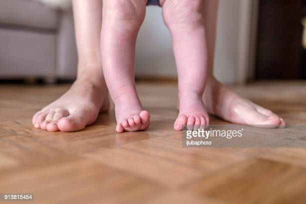 Tiny feet will one day become big, cherish these moments