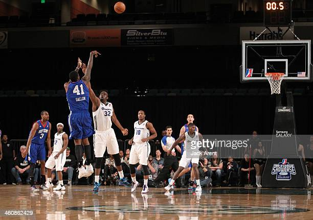 Tiny Gallon of the Delaware 87ers shoots the ball against the Reno Bighorns during the 2014 NBA DLeague Showcase presented by Samsung Galaxy on...