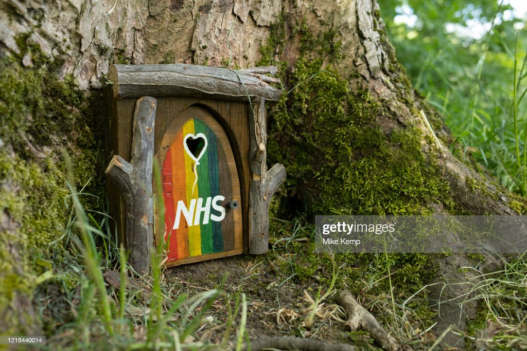 Tiny Model In Support Of NHS Workers In Birmingham : News Photo
