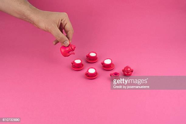 Tiny pink tea party