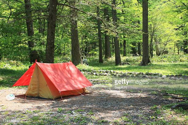 Tiny red tent in