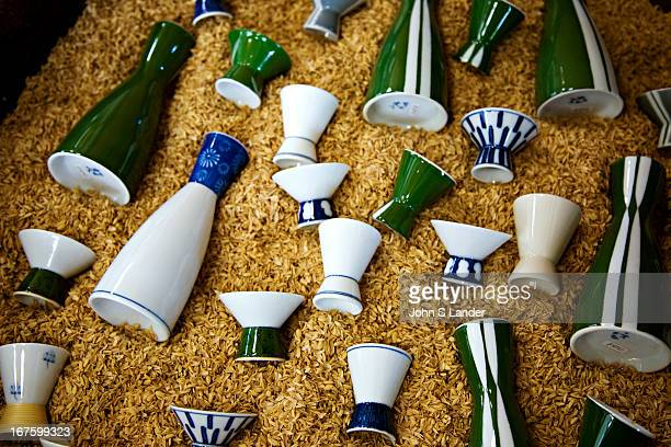 Tiny sake cups and sake flasks Sake or Japanese rice wine has become a popular drink outside of Japan and has enjoyed a resurgence of popularity in...