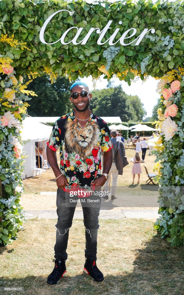 Tiny Tempah attends Cartier Style Et Luxe at The Goodwood Festival Of Speed, Goodwood, on July 15, 2018 in Chichester, England.