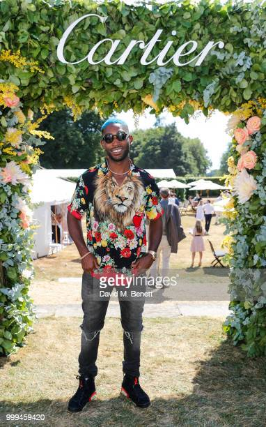 Tiny Tempah attends Cartier Style Et Luxe at The Goodwood Festival Of Speed Goodwood on July 15 2018 in Chichester England