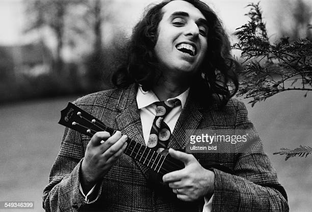 Tiny Tim on tour 1968 in Germany American pop musician playing the Ukulele