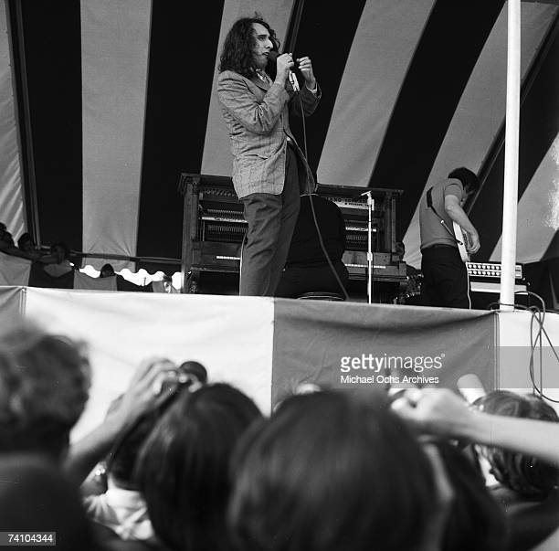 Tiny Tim performs at the Newport Pop Festival on June 20 1969 in Devonshire Downs California