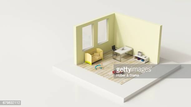 tiny world, home office - das leben zu hause stock pictures, royalty-free photos & images