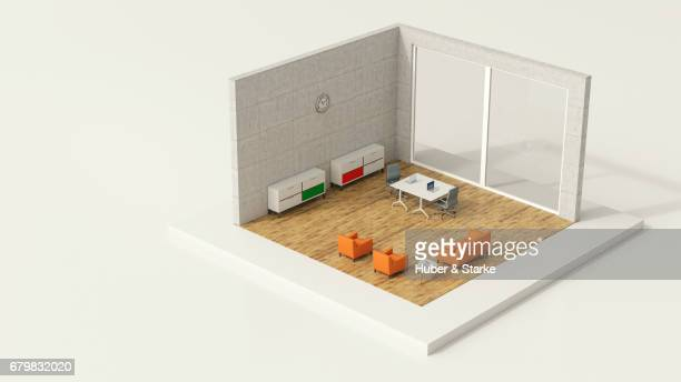 tiny world, modern office