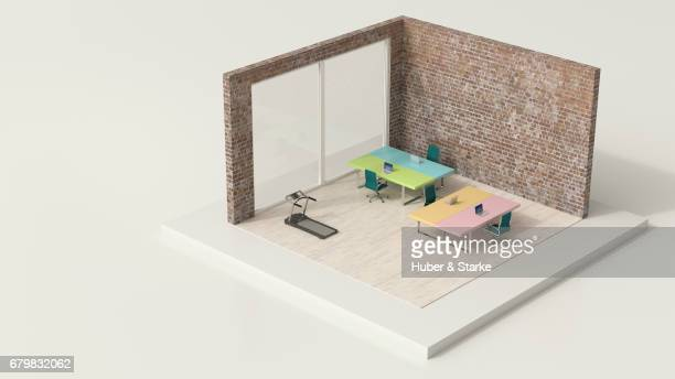 tiny world, modern office - fitnesstraining stock pictures, royalty-free photos & images