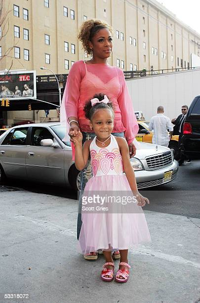 Tionne T Boz Watkins of TLC and her daughter Chase Rolison arrive at a fashion show and party to benefit the Make A Wish Foundation at The Park...