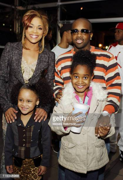 Tionne TBoz Watkins of TLC with daughter Chase and Jermaine Dupri with daughter Shaniah