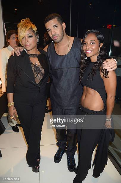 Tionne Watkins Drake and Rozonda Thomas attend the 2013 MTV Video Music Awards at the Barclays Center on August 25 2013 in the Brooklyn borough of...