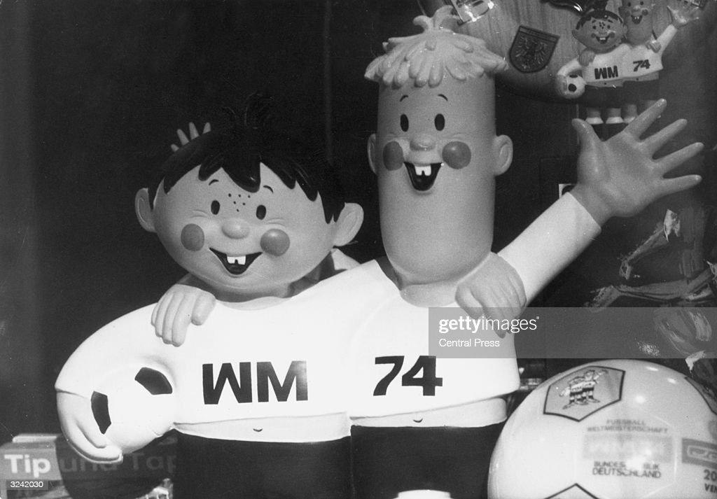 Tip and Tap, the mascots for the 1974 World Cup which took place in Germany.
