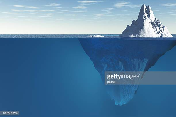 tip of the iceberg - underwater stock pictures, royalty-free photos & images