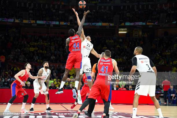 Tip off of 2019 Turkish Airlines EuroLeague Final Four Semifinal B game between Semifinal B CSKA Moscow v Real Madrid at Fernando Buesa Arena on May...