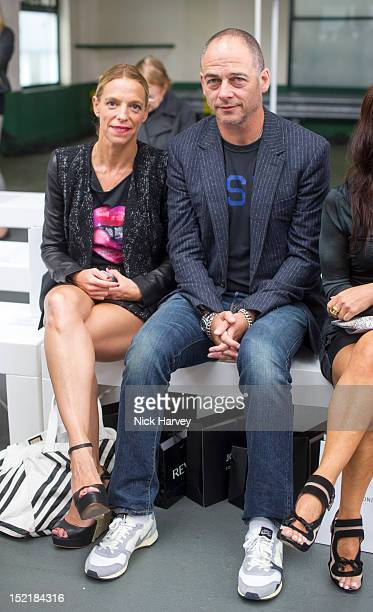 Tiphaine Chapman and Jake Chapman attend the front row for the Antonio Berardi show on day 4 of London Fashion Week Spring/Summer 2013 at Brewer...