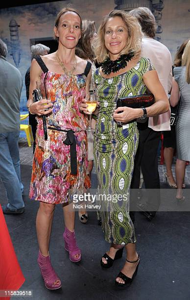 Tiphaine Chapman and Maia Hirst attend the Prada Congo Benefit Party at The Double Club on July 2 2009 in London England