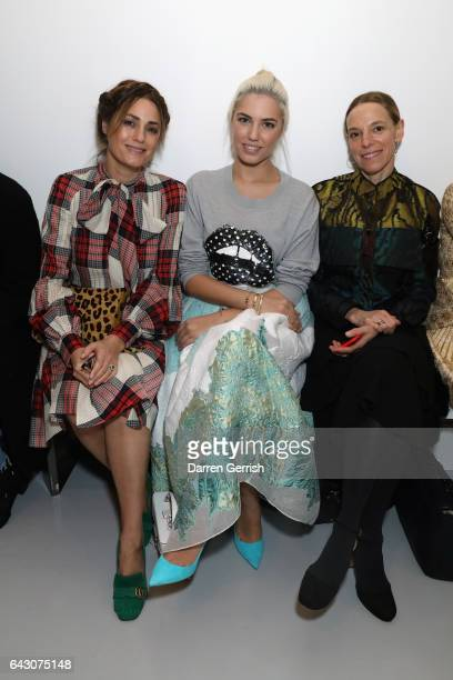 Tiphaine de Lussy Amber Le Bon and Yasmin Le Bon attend the Antonio Berardi show during the London Fashion Week February 2017 collections on February...
