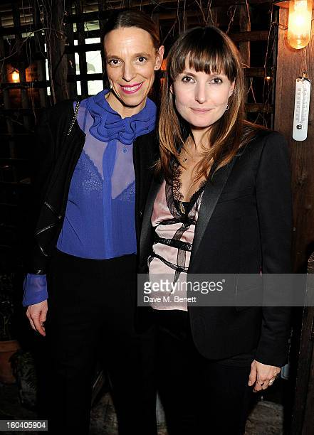Tiphaine de Lussy and Daisy Bates attend the InStyle Best Of British Talent party in association with Lancome and Avenue 32 at Shoreditch House on...