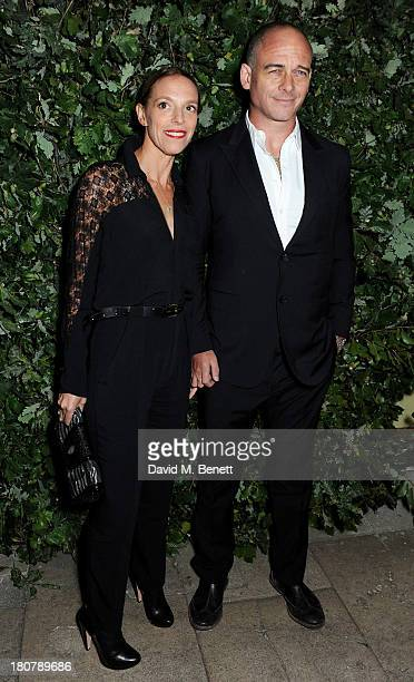Tiphaine de Lussy and Dinos Chapman attend an evening to celebrate The Global Fund hosted by the Earl and Countess of Mornington Anna Wintour Livia...