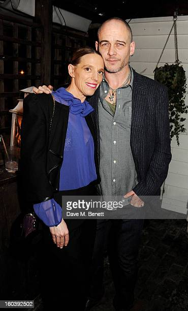 Tiphaine de Lussy and Dinos Chapman attend the InStyle Best Of British Talent party in association with Lancome and Avenue 32 at Shoreditch House on...
