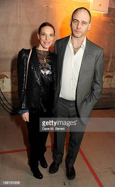 Tiphaine de Lussy and Dinos Chapman attend the Jonathan Saunders, Fantastic Man and Selfridges London Collections: MEN AW13 dinner at The Old...
