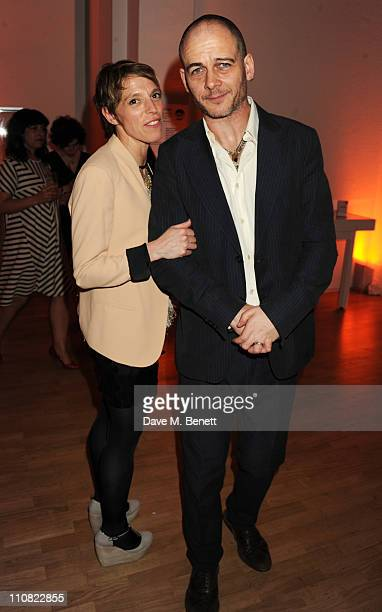Tiphaine de Lussy and Dinos Chapman attend the TOD'S Art Plus Drama Party at the Whitechapel Gallery on March 24, 2011 in London, England.