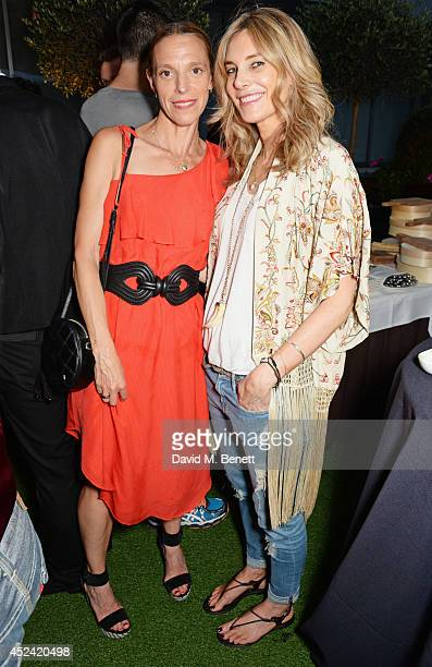 Tiphaine de Lussy and Kim Hersov attend the a party celebrating the 35th anniversary of 'The Golden Heart' pub at Galvin La Chapelle on July 19, 2014...