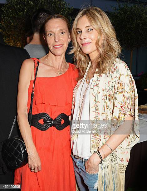 Tiphaine de Lussy and Kim Hersov attend the a party celebrating the 35th anniversary of 'The Golden Heart' pub at Galvin La Chapelle on July 19 2014...