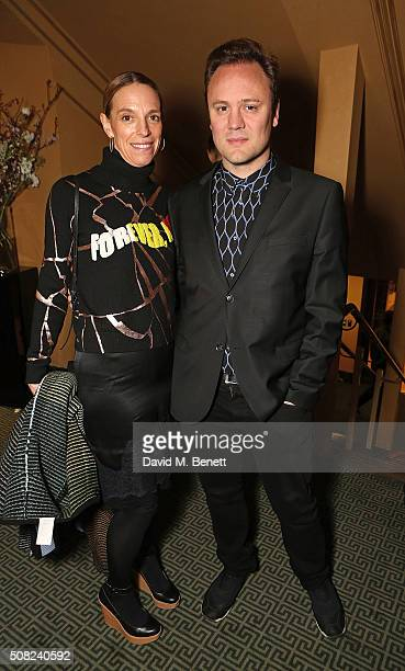 Tiphaine De Lussy and Nicholas Kirkwood attend the SHOWStudio Fashion Film Awards Ceremony at Regent Street Cinema on February 3 2016 in London...