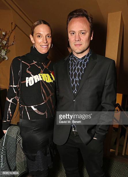 Tiphaine De Lussy and Nicholas Kirkwood attend the SHOWStudio Fashion Film Awards Ceremony at Regent Street Cinema on February 3, 2016 in London,...
