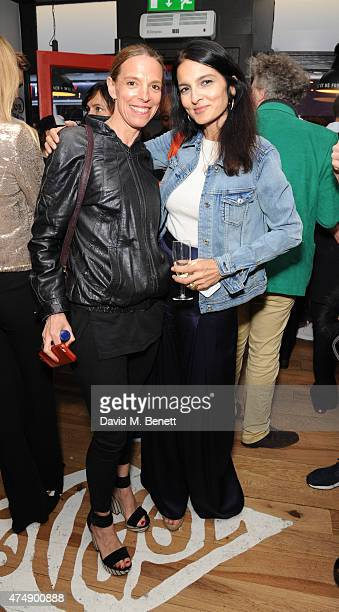 Tiphaine de Lussy and Yasmin Mills attend the launch of new USA inspired hot dog restaurant 'Top Dog' on Frith Street on May 27, 2015 in London,...