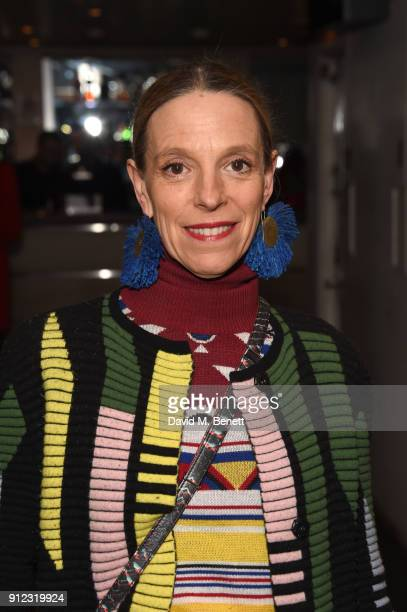 Tiphaine De Lussy arrives at Porter Magazine's 'Incredible Women Talk' with Dr Jane Goodall to celebrate the BAFTA nominated 'Jane' in association...