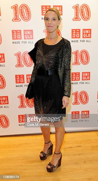 Tiphaine de Lussy arrives at the reopening of the UNIQLO London Flagship store on Regent Street on October 12, 2011 in London, England.